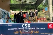 Anniversary 1 Dekade, Komunitas CBR CCI Samarinda Rayakan Dengan Baksos di Panti Asuhan