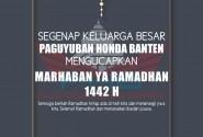 Paguyuban Honda Banten Ucpahkan Selamat Menyambut Bulan Ramadhan