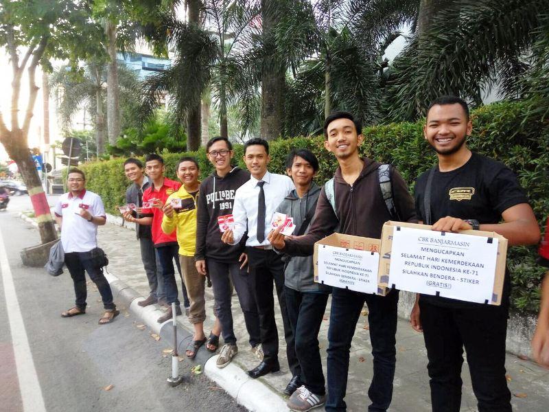 CBR Banjarmasin Lakukan Aksi Sosial Turun ke Jalan Peringati Hari Kemerdekaan RI