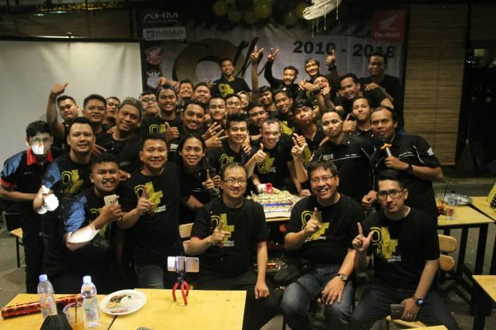 Bukti Eratnya Persaudaraan, CBR Club Medan Rayakan Ultah ke-8
